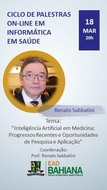 Banner palestra sobre IA em Medicina Dr Sabbatini